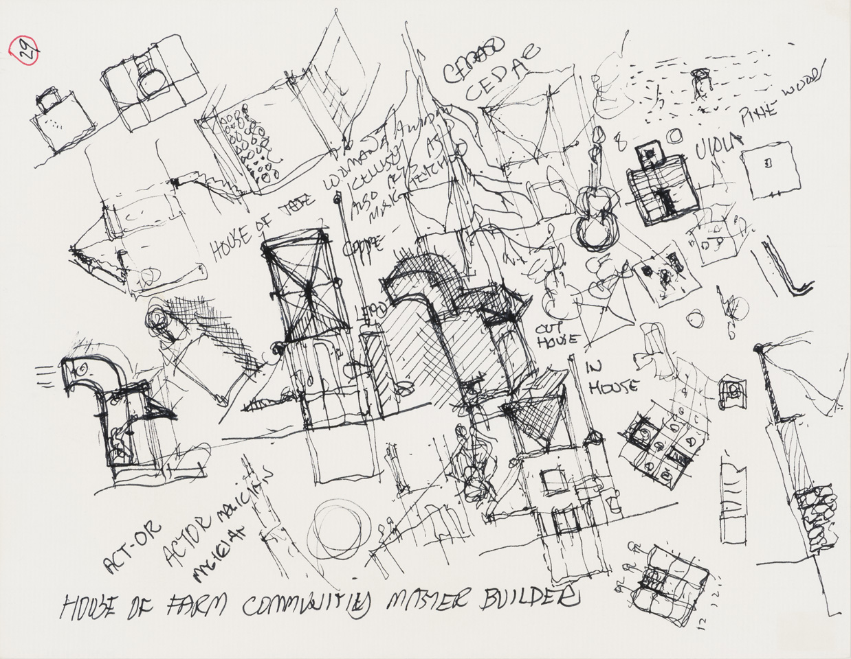 John Hejduk, House for farm community master builder (Lancaster-Hanover Mask)