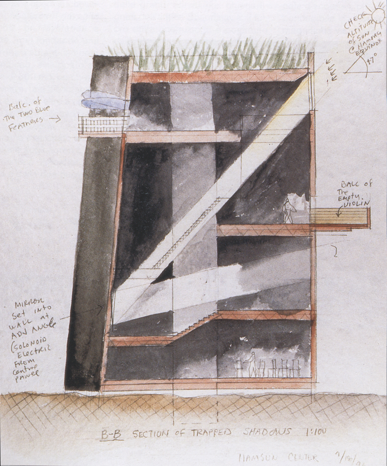 Steven Holl, Knut Hamsun Center Concept Section