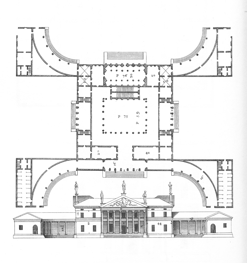 Palladio, Pl LVIII B2 from The Four Books on Architecture (Villa Mocenico)