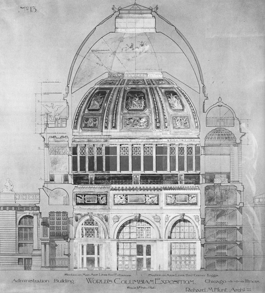 Richard Morris Hunt, Columbian World Exhibition Administration Building, Section