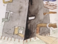 Steven Holl, Knut Hamsun Center Concept Sketch Exterior