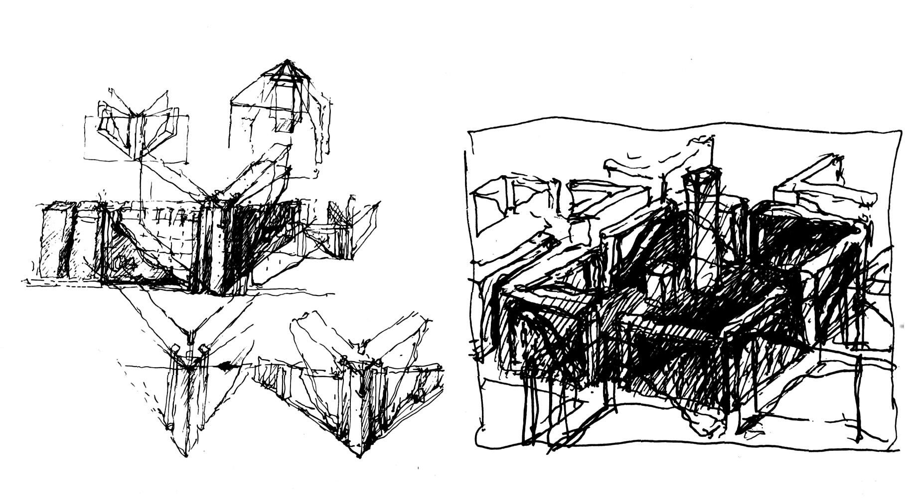 Raimund Abraham, IBA Berlin sketch
