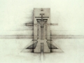 Raimund Abraham, Church On The Berlin Wall - projected layers of walls